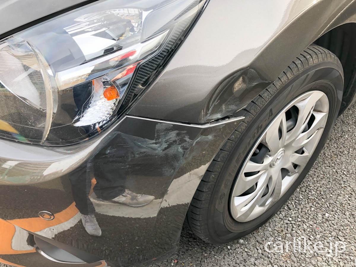 壊れている・傷がある車