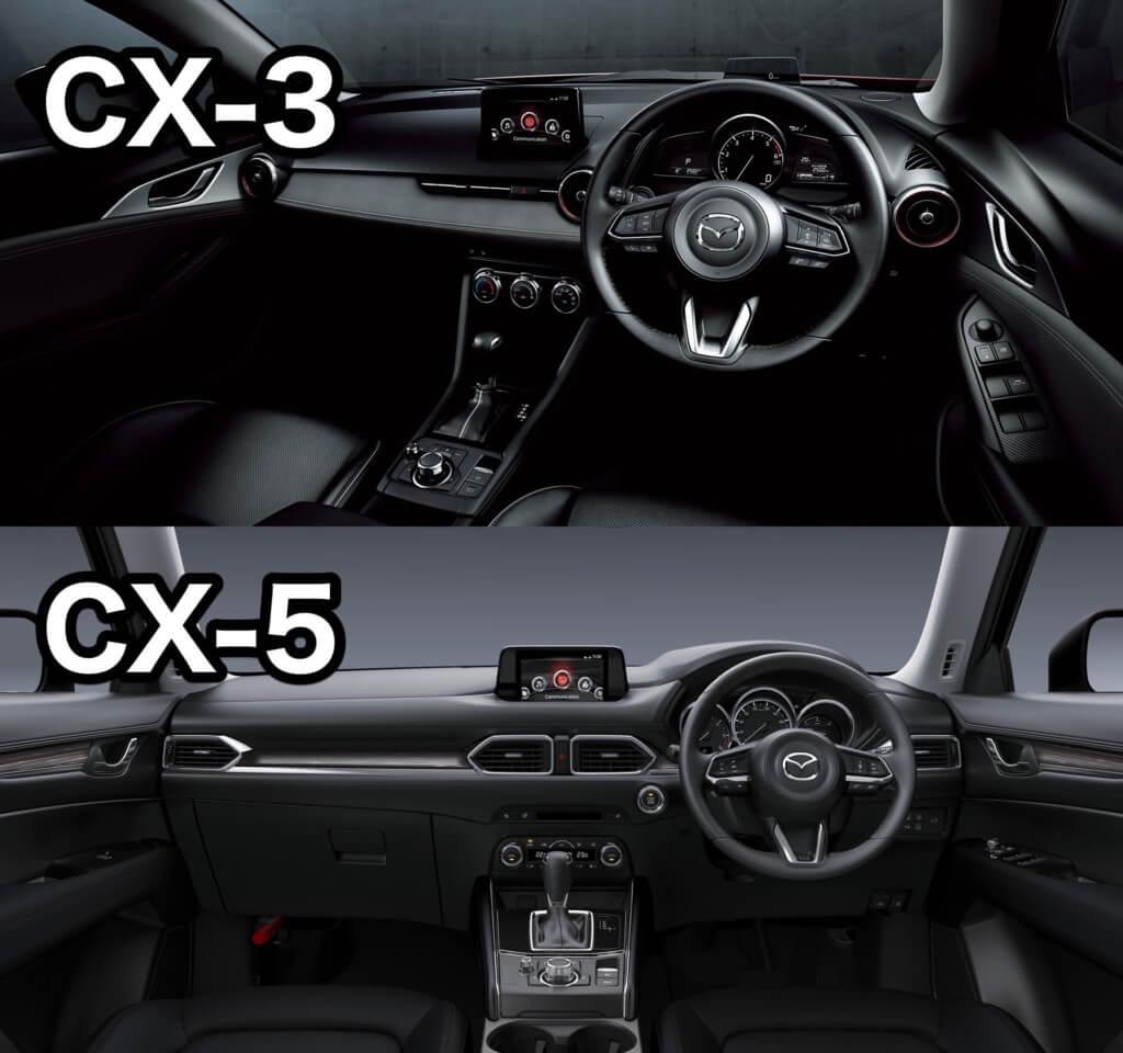 CX-3とCX-5のインテリア比較