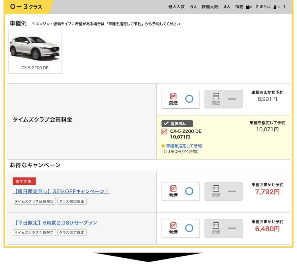 マツダ CX-5を選択